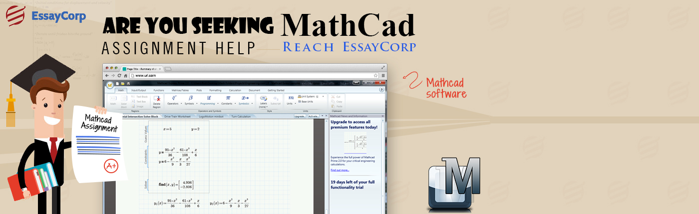 Writing assignment help mathcad