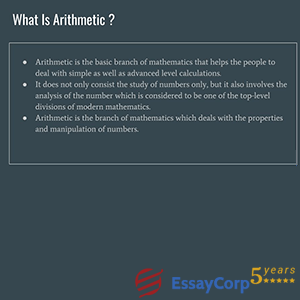 what is arithmetic?