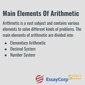 main elements of arithmetic