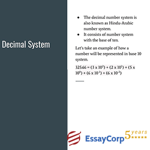 decimal system of arithmetic