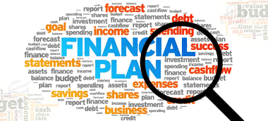 review the financial plan