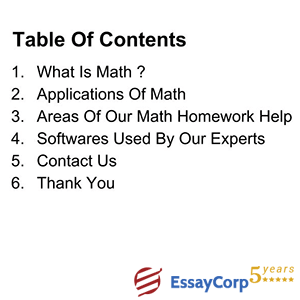 math contents