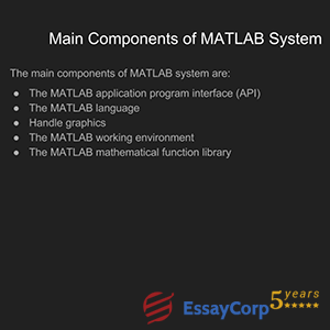 main components of matlab system