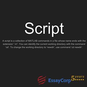 script command in matlab