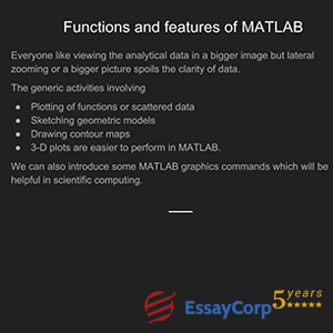 functions and features of matlab