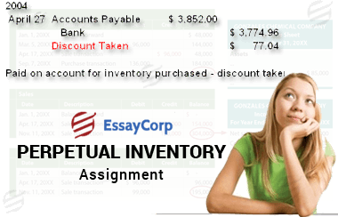why students require help in perpetual inventory assignment