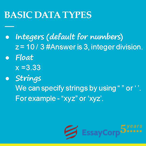 basic data types in python