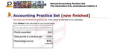 perdisco practice set-12 result  card
