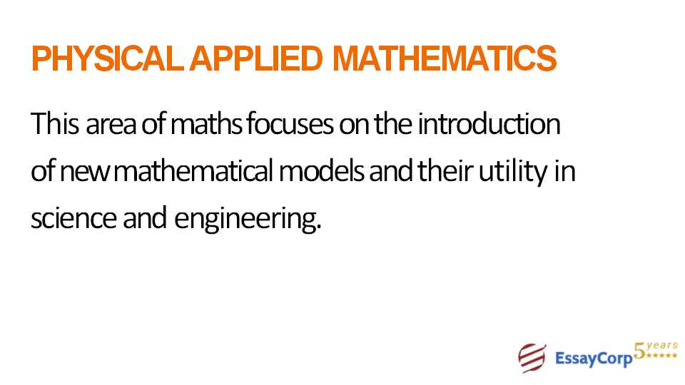 physical applied mathematics