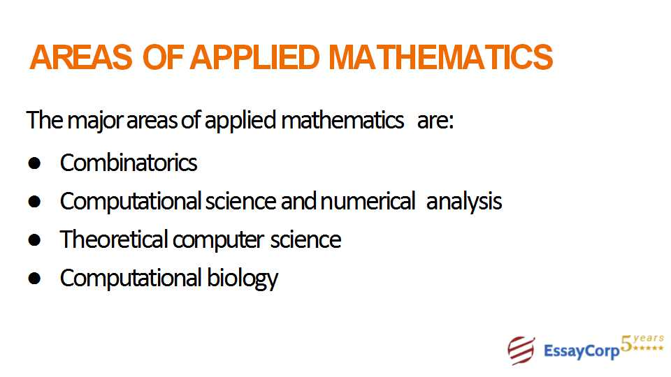 areas of applied mathematics